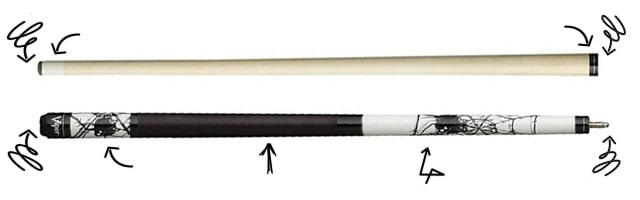 two-piece pool cue